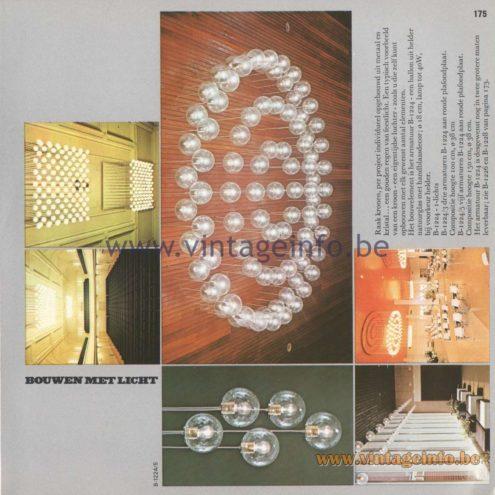 Raak Amsterdam Light Catalogue 8 - 1968 - Pendant Lamps B-1224