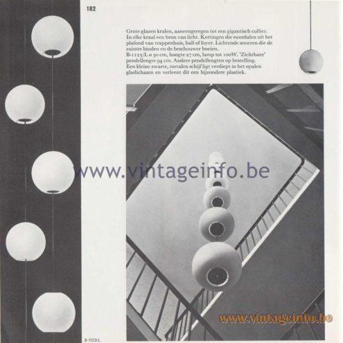 Raak Amsterdam Light Catalogue 8 - 1968 - Pendant Lamps B-1123/L