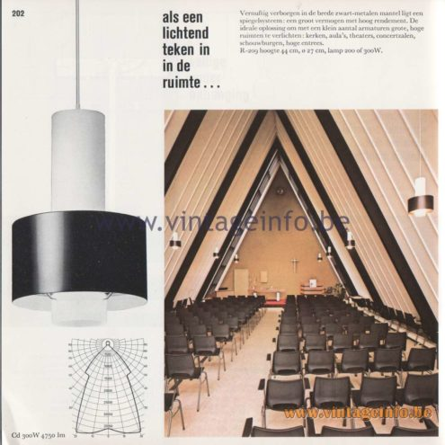 Raak Amsterdam Light Catalogue 8 - 1968 - als een lichtend teken in de ruimte - as a shining sign in space R-209