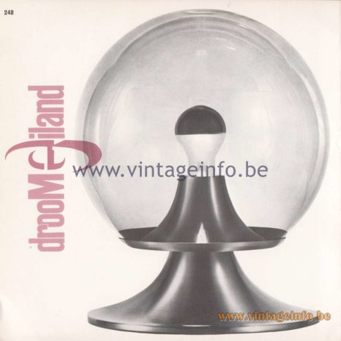 Raak Amsterdam Light Catalogue 8 - 1968 - Raak Droomeiland Table Lamp D-2001, D-2002