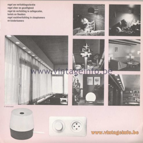 Raak Amsterdam Light Catalogue 8 - 1968 - Raak Dimmers