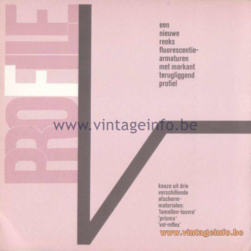 Raak Amsterdam Light Catalogue 8 - 1968 - Profile Flush Mounts