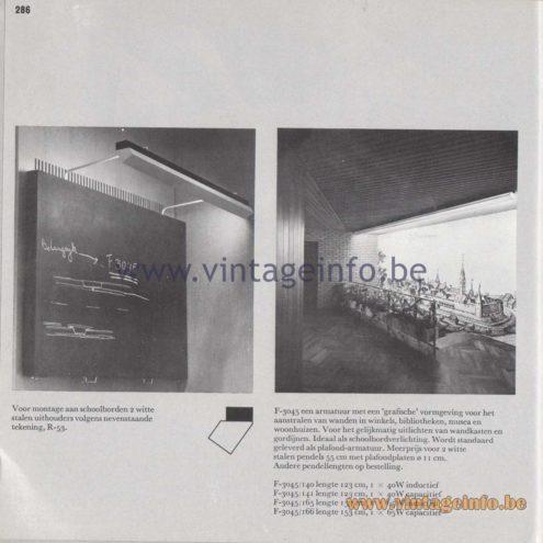 Raak Amsterdam Light Catalogue 8 - 1968 - Voor montage aan schoolborden - For mounting on blackboards R-53, F-3045/140, 141, 165, 166