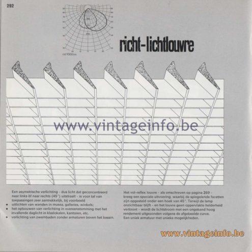 Raak Amsterdam Light Catalogue 8 - 1968 - Richt-lichtlouvre - Point-light louvre