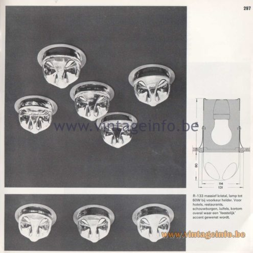 Raak Amsterdam Light Catalogue 8 – 1968 - Vierklank kristal - Four-tone crystal - R-133