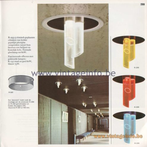 Raak Amsterdam Light Catalogue 8 – 1968 - Raak Sfeer (ambiance) Flush Mount R-295