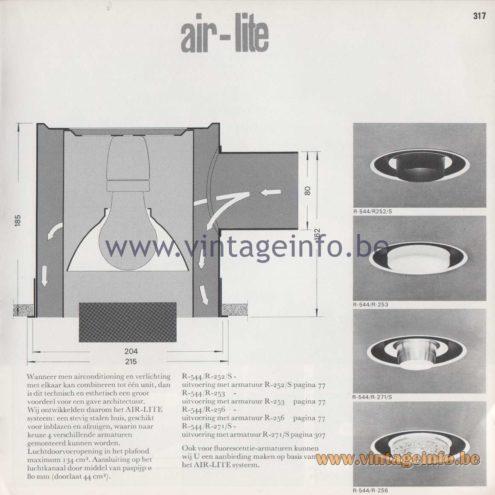 Raak Amsterdam Light Catalogue 8 - 1968 - R-544/R Air-Lite Recessed Flush Mount