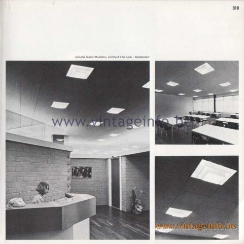 Raak Amsterdam Light Catalogue 8 - 1968 - R-9, R-99 Recessed Flush Mount