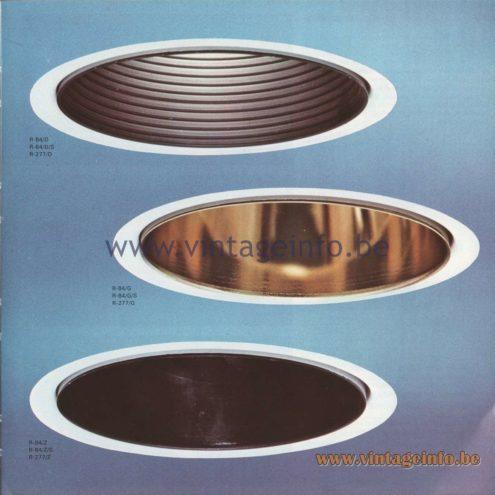 Raak Amsterdam Light Catalogue 8 - 1968 - R-84 Recessed Flush Mounts