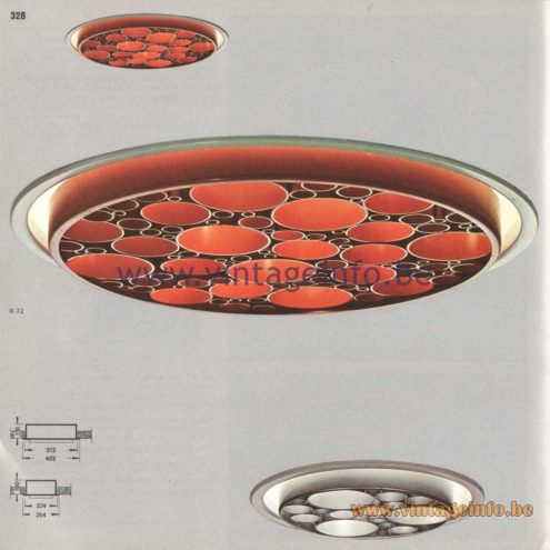 Raak Amsterdam Light Catalogue 8 - 1968 - Raak R-62, R-72 Alliance Recessed Flush Mount