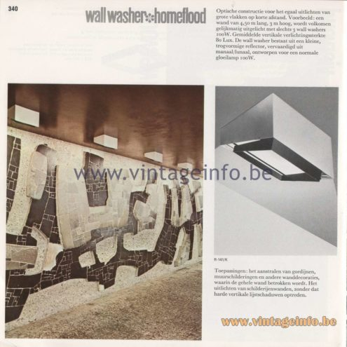 Raak Amsterdam Light Catalogue 8 - 1968 - Raak Wall Washer Homeflood Flush Mount R-141/K