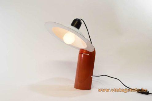 Stilnovo Lampiatta table lamp in plastic and aluminium. Designers: Jonathan De Pas, Donato D'Urbino, Paolo Lomazzi 1970s