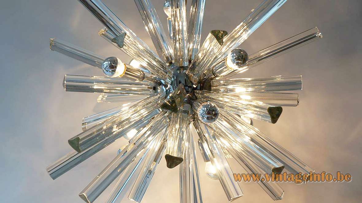 Trihedral Crystal Glass Sputnik Chandelier