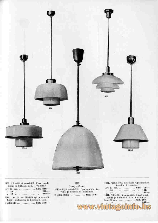 1930s art deco pendant lamp Pavoo Tynell Taito Finland chrome blue opal glass Bauhaus