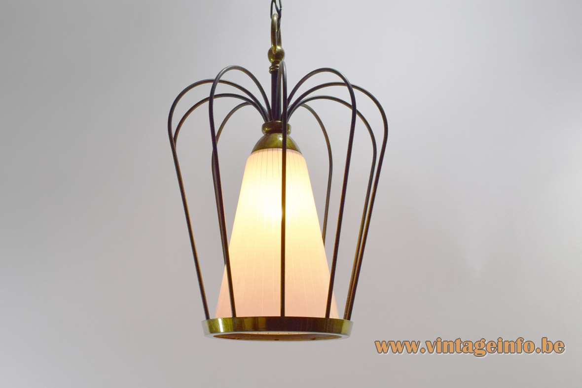1950s Caged Pendant Lamp
