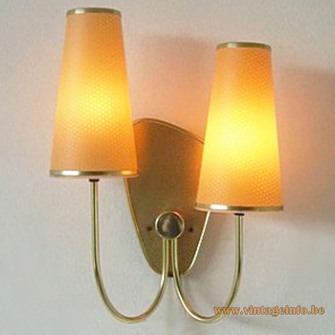 1950s ERCO Conical Cylinders Wall Lamp made of plastic with curved rods