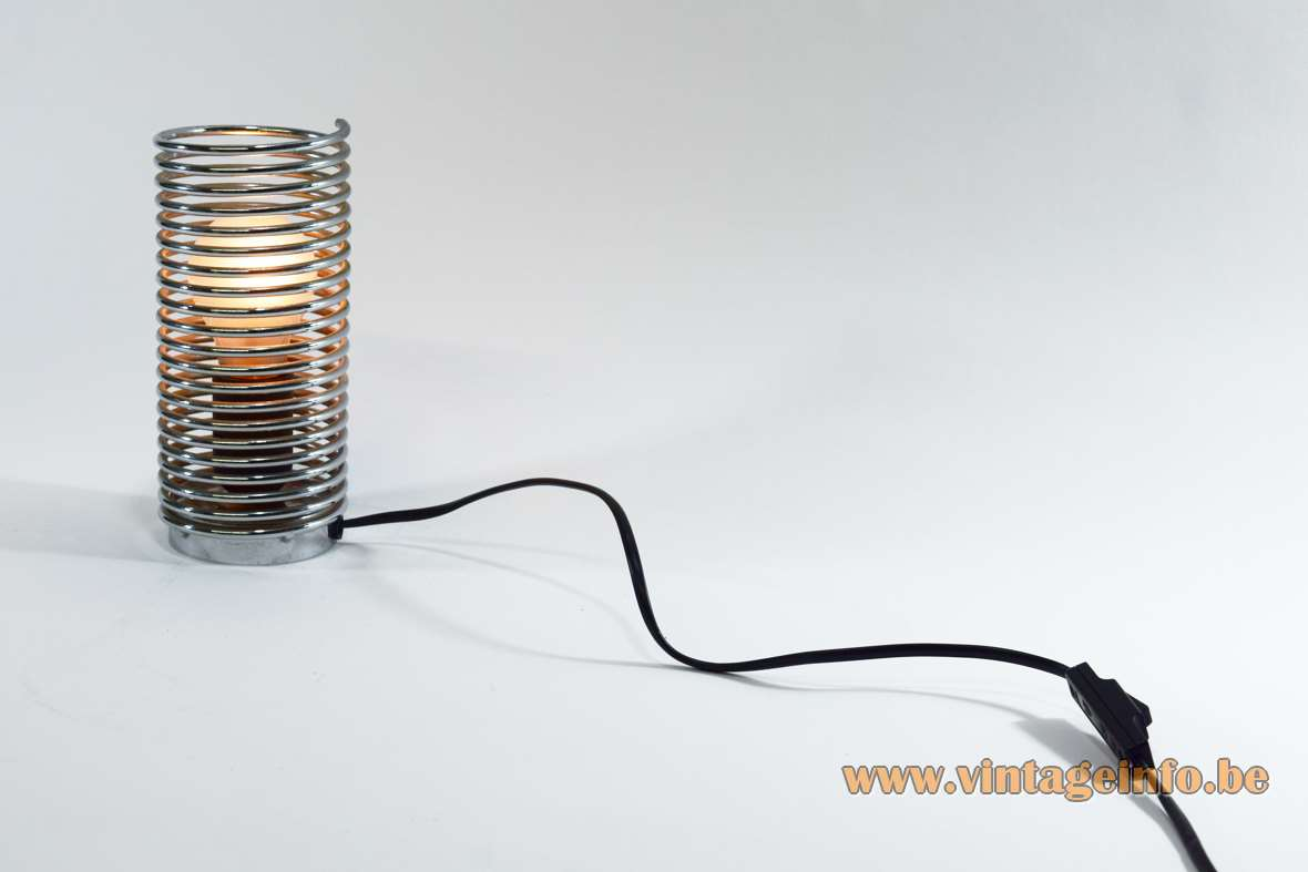 Chrome Spiral Spring Table Lamp