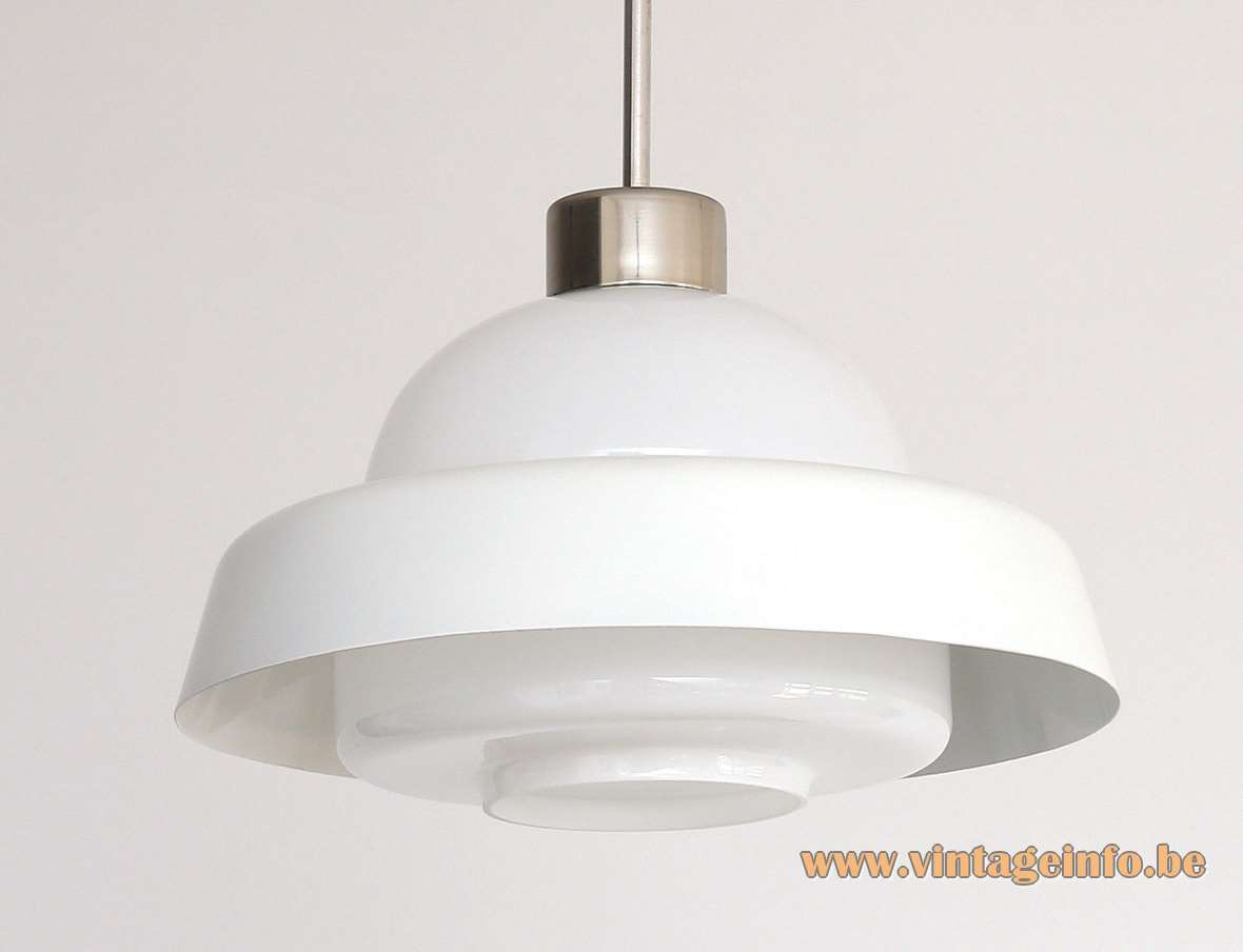 Czech Lustry Opaque Glass Pendant Lamp Vintage Info All