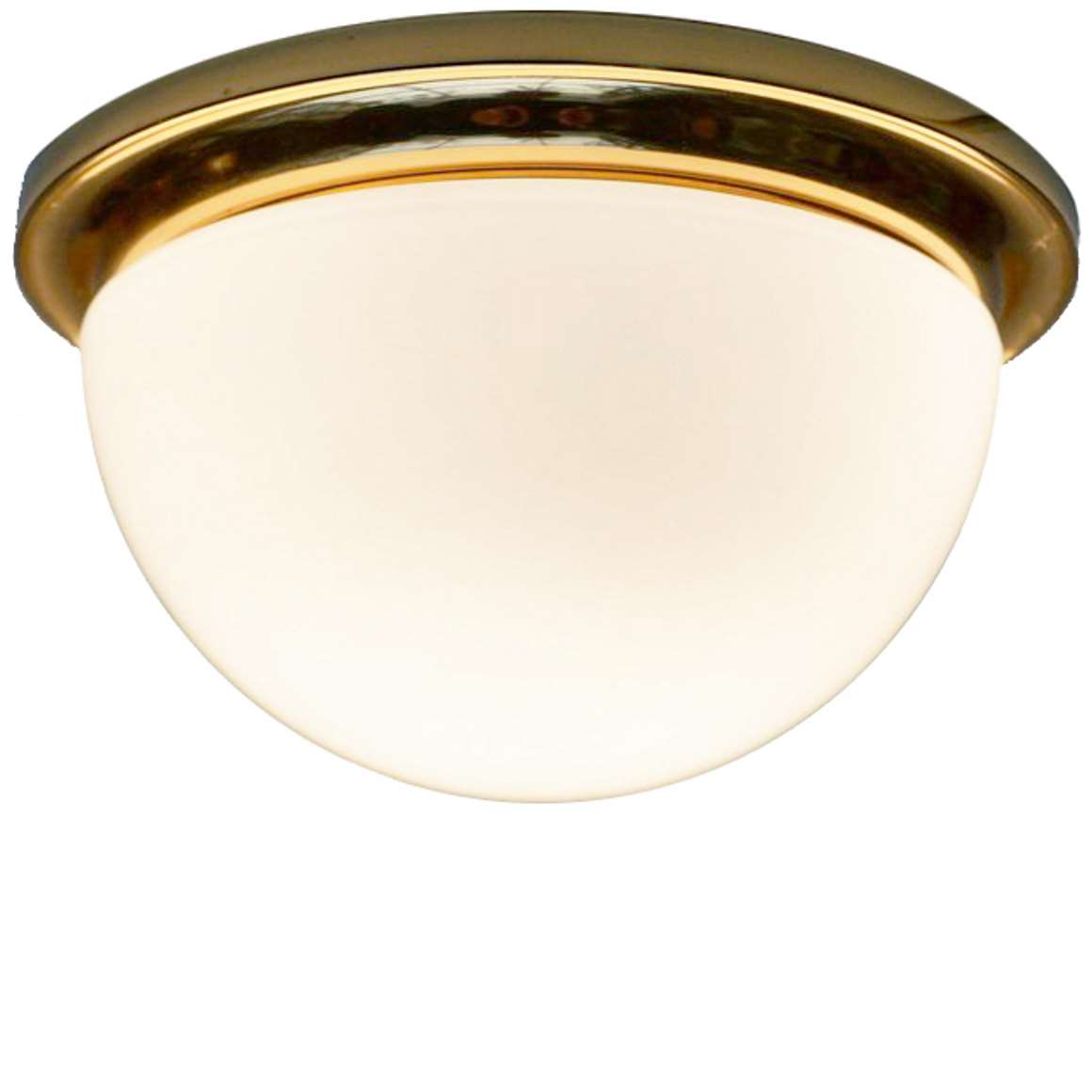 Glashütte Limburg Opaque Half Round Flush Mount