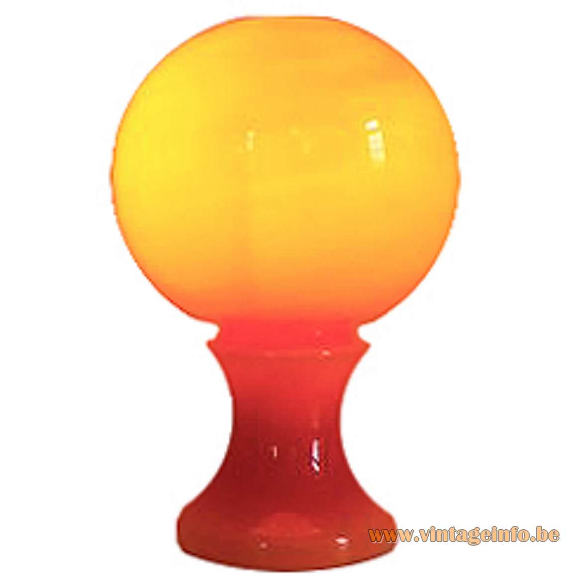 Ingo Maurer, Design M, ML 32 Orange Glass Table Lamp, 1960s, 1970s, MCM, Germany