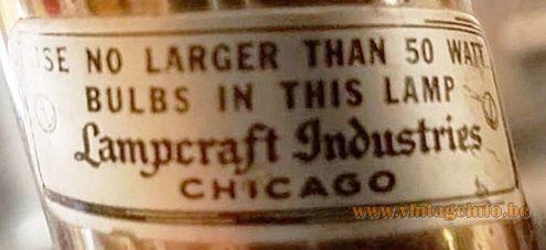 Lampcraft Industries Chicago Label