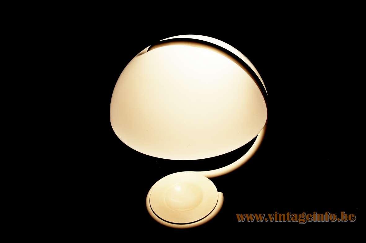 Martinelli Luce table lamp Serpente 1965 design Elio Martinelli snake lamp acrylic & metal 1960s 1970s MCM