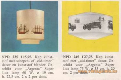 Philips NPD 245 Oldtimer Pendant Lamp - Catalogue 1968