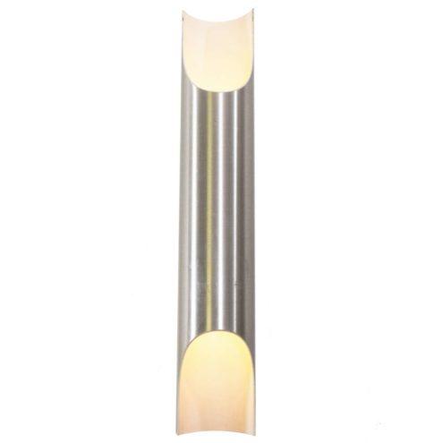 Raak Fuga aluminium tube wall lamp 1950s design: Maija Liisa Komulainen 1960s 1970s MCM Raak Lichtarchitectuur