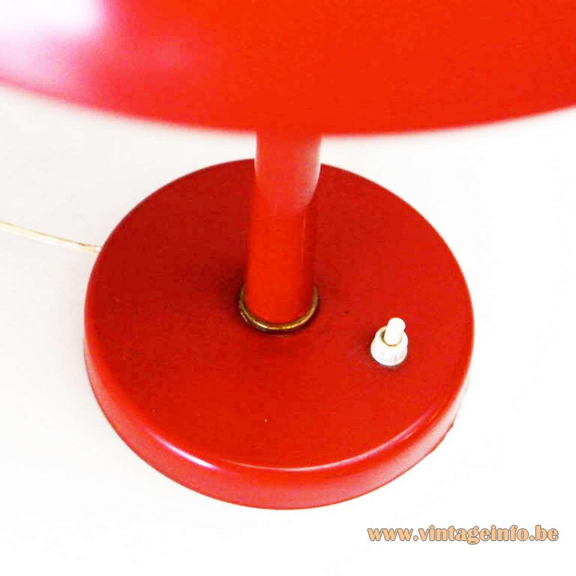 VEB Leuchtenbau mushroom desk lamp metal designer: Lutz Rudolf no Louis Kalff Philips 1960s 1970s Mid-Century Modern