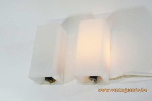 1960s Cuboid Acrylic Wall Lamps