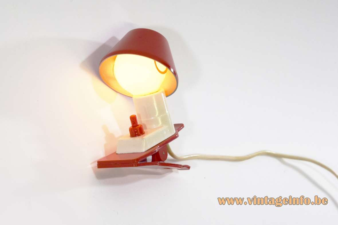 1960s Vimar Plastic Clamp Lamp