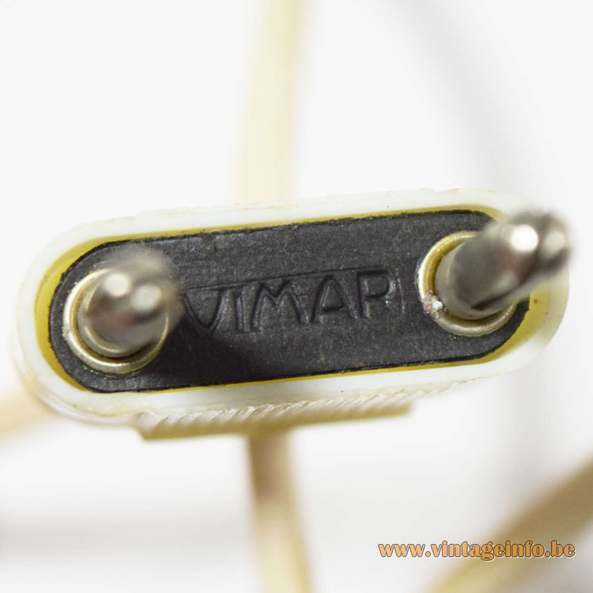 1960s Vimar Plastic Clamp Lamp - Vimar logo on the plug