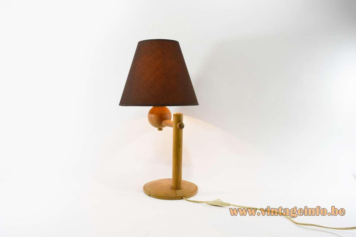 Aneta Pinewood Table Lamps