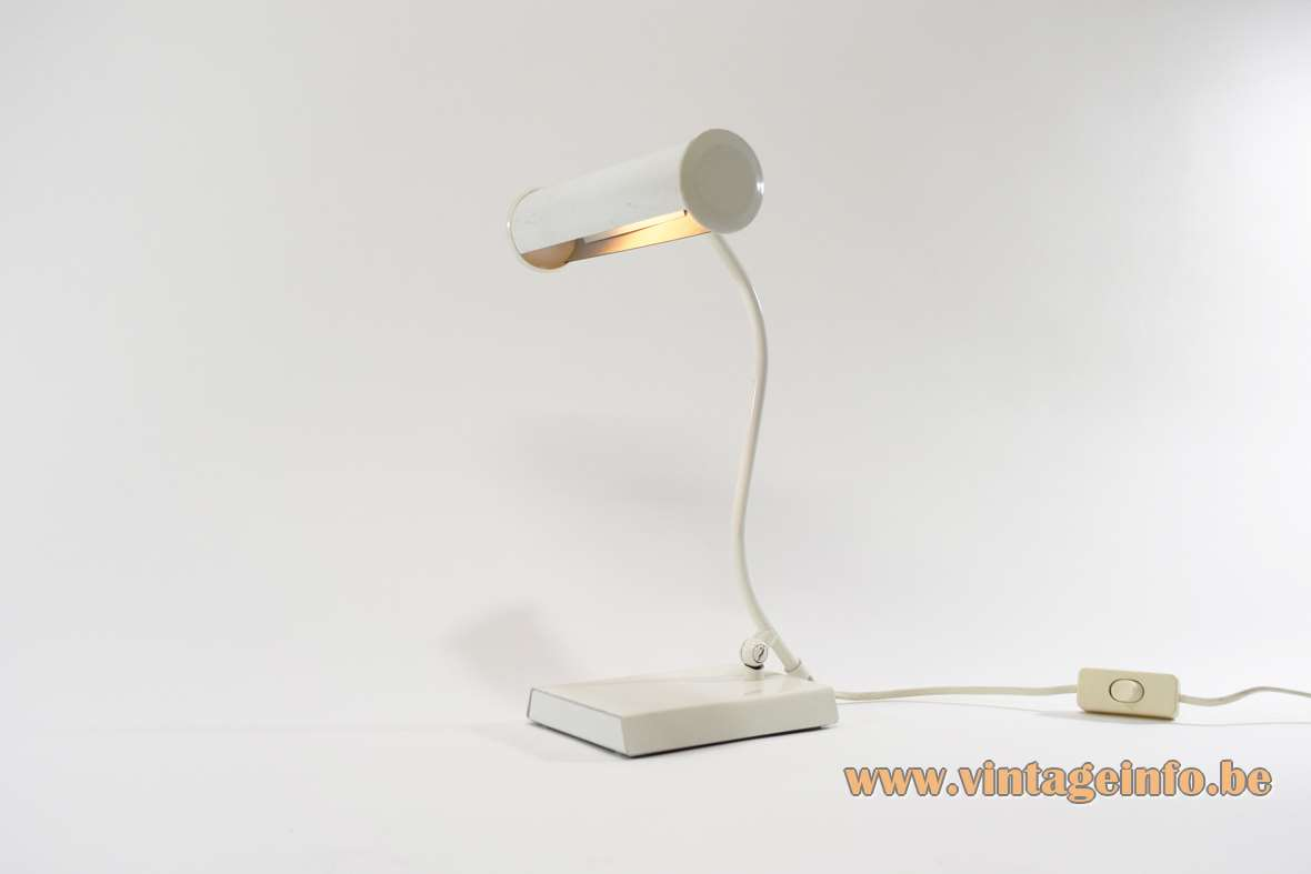 White 1980s ANVIA Desk Lamp