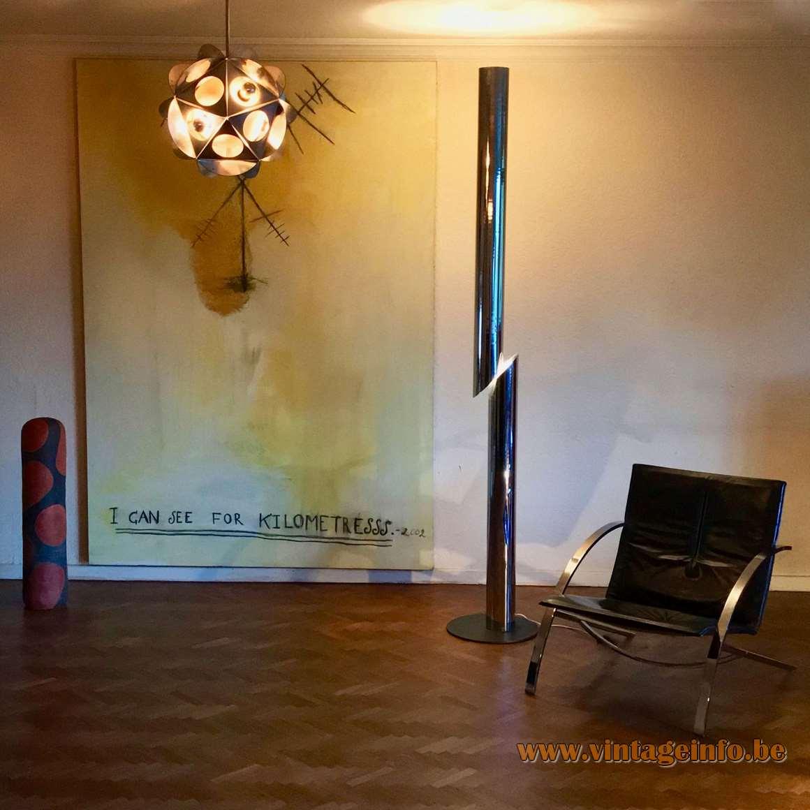 Cicindela Chrome Floor Lamp