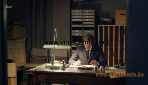Dazor Floating Fixture 2324 Work Lamp was used as a prop in Endeavour (ITV TV Series 6) Lamps in the movies!