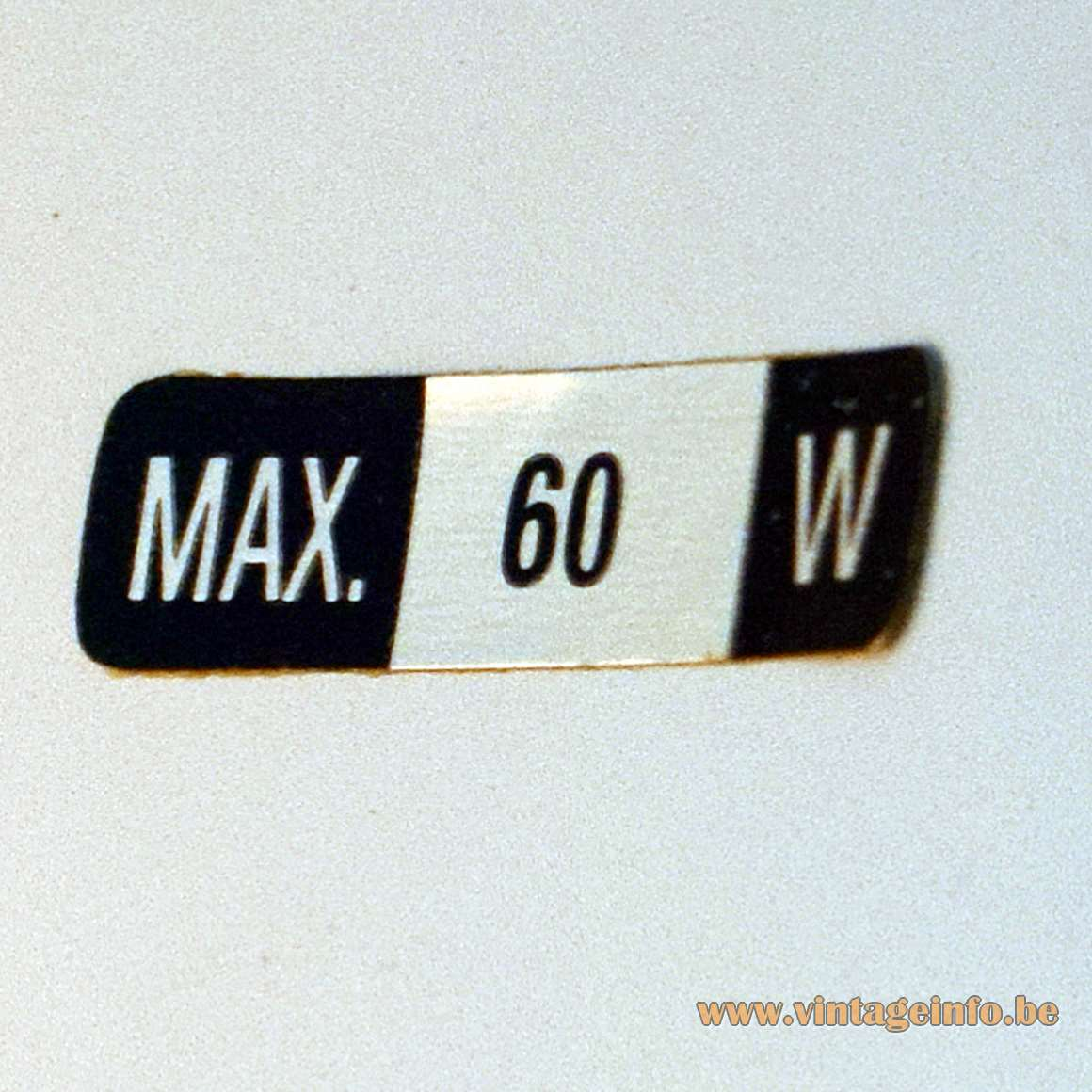 Fase Style 1980s Desk Lamp - Max. 60 W label glued in the lampshade