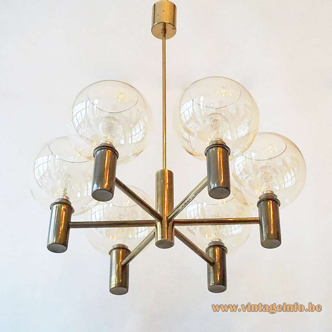Hans-Agne Jakobsson Smoked Globes Chandelier