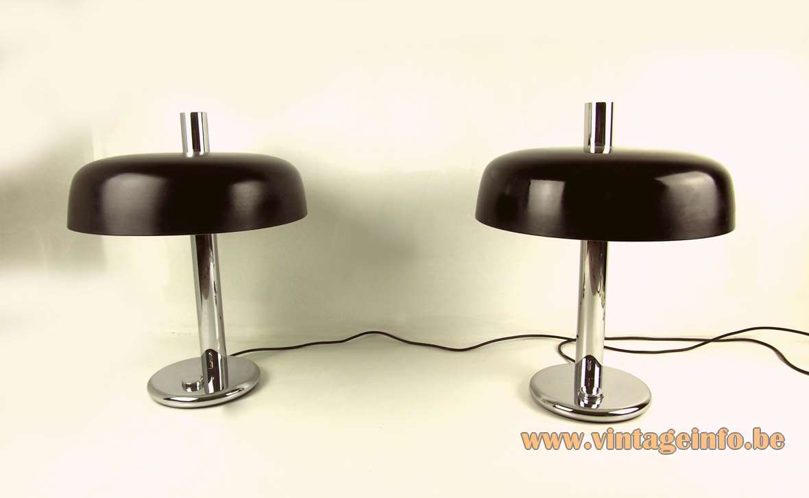 Hillebrand Black 1970s Desk Lamps