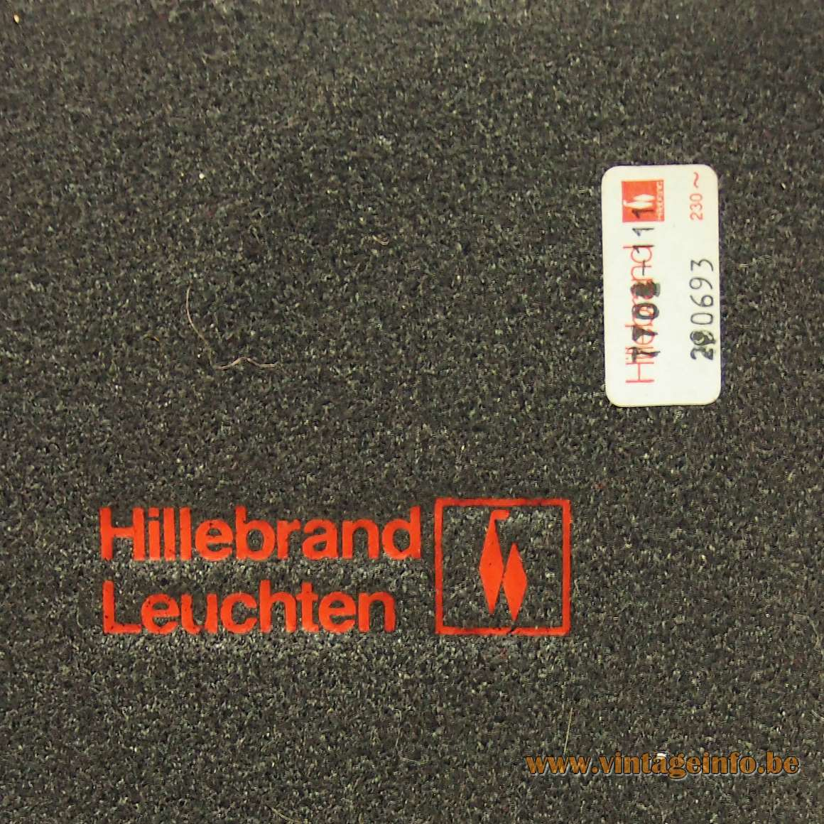 Hillebrand Desk Lamp 7702 - label