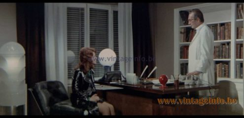 AV Mazzega LT216 Table Lamp used as a prop in the film Night of the Devils (1972)