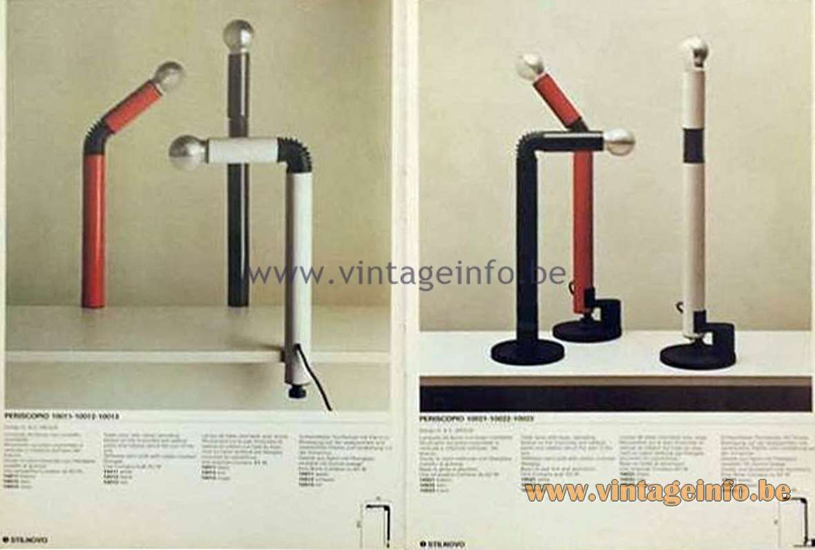 Stilnovo Periscopio Lamps - 1970s Catalogue Picture