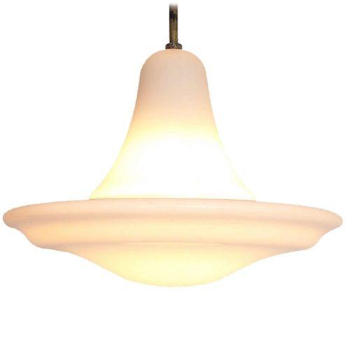 Siemens Neophan pendant lamp white opal glass designer: Peter Behrens 1920s 1930s art deco Bauhaus E27 socket