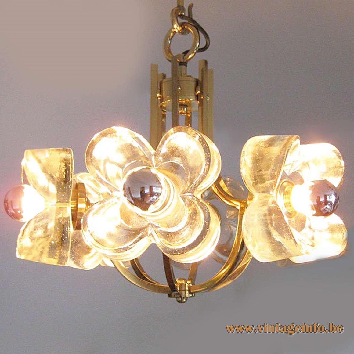 Simon & Schelle - Sische - 1980s Flower Pendant Lamp