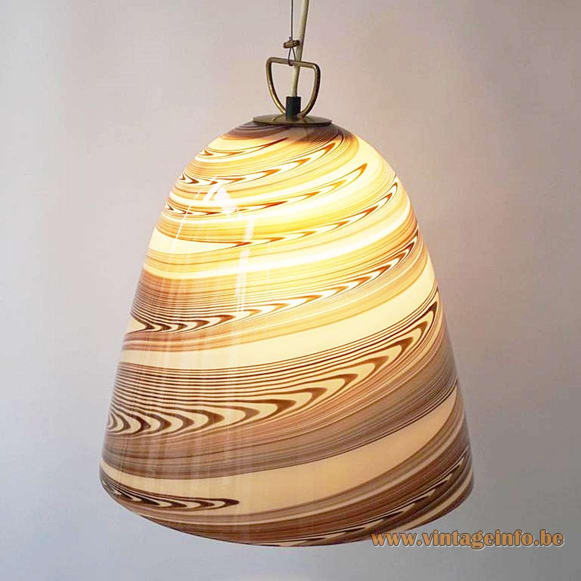 Stracciatella Murano Bell Pendant Lamp