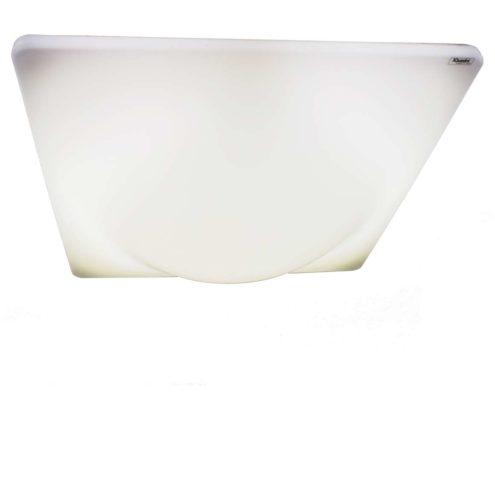 iGuzzini Dada flush mount square white curved acrylic Pespex ceiling light circular fluorescent lamp 1970s design