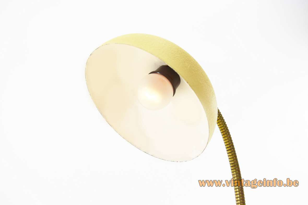 1950s Banana Yellow Desk Lamp