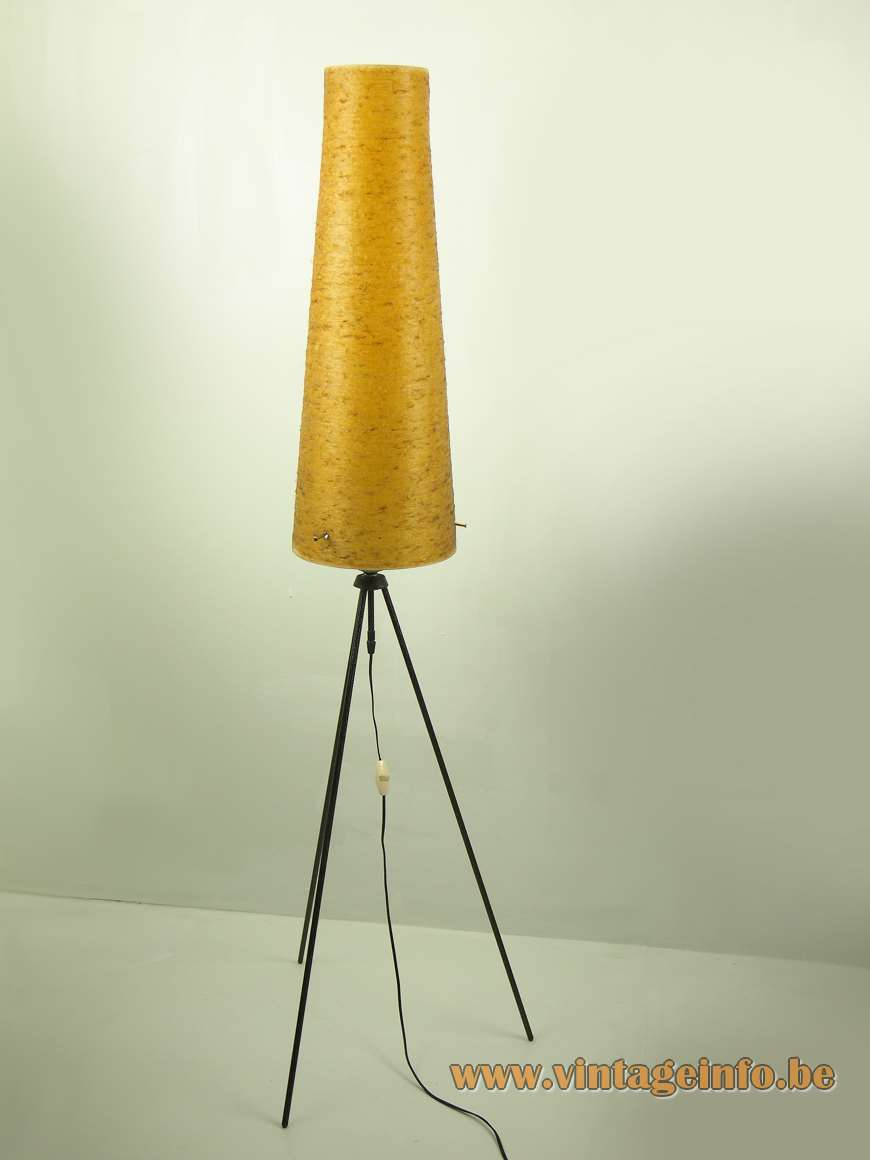 1950s Fibreglass Tripod Floor Lamp Vintage Info All