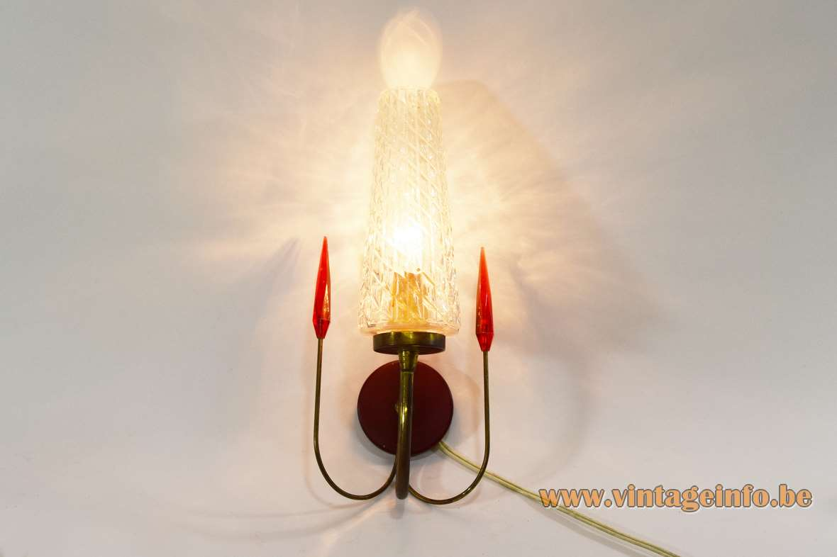 1950s Spearhead Wall Lamps