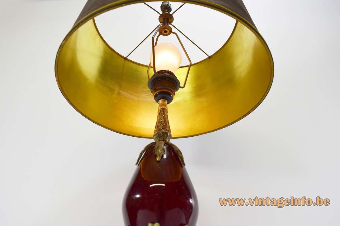 1990s Art Nouveau Table Lamp